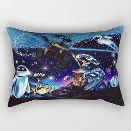 Wall-E Collage Rectangular Pillow
