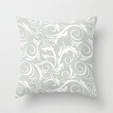 Floral Sea Salt Throw Pillow