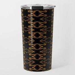 Luxury mandalas gold on black vintage Travel Mug