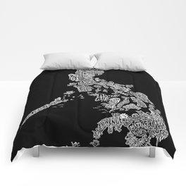 Paranormal Philippines (black) Comforters
