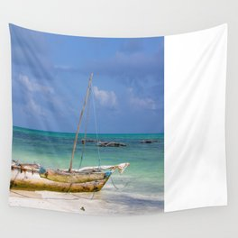 Lonely Boat Wall Tapestry