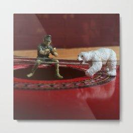 The Polar Bear & The Army Man Metal Print