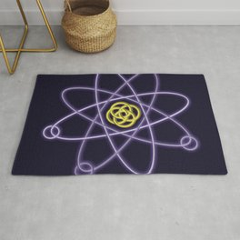 Gold and Silver Atomic Structure Rug