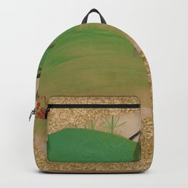 Shibata Zeshin - Flowers On Grass - Digital Remastered Edition Backpack
