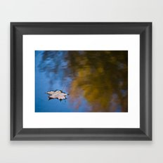 Lonely Reflection Framed Art Print