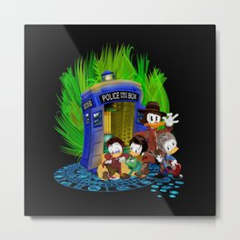 The Doctor Duck 4th 10th 11th and 12th who Tales iPhone 4 4s 5 5s 5c, ipod, ipad, pillow case tshirt Metal Print