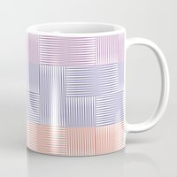 herringbone Mugs featuring Herringbone by guapa.