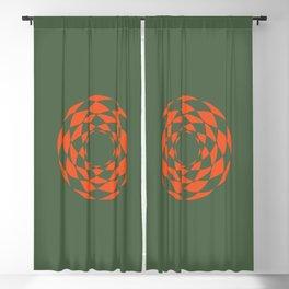 Orange Retro Blackout Curtain