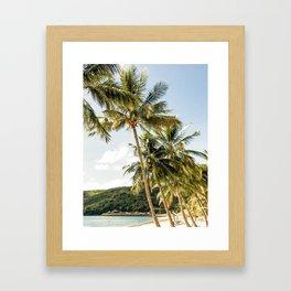 Paradise beach Framed Art Print