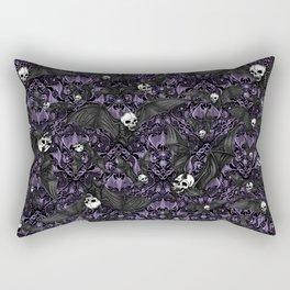 Skelebats - Royal Purple Rectangular Pillow