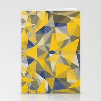 yellow pattern Stationery Cards featuring Yellow by jbjart