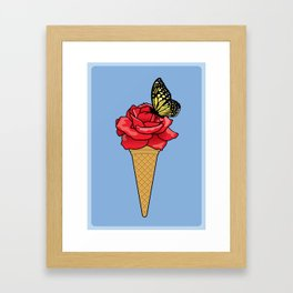 Butterfly Ice Cream Framed Art Print