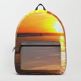 Pastel sunset over Chesapeake Bay Backpack