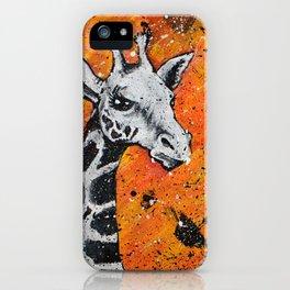 Giraffe Splatter iPhone Case