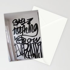 say nothing show everything Stationery Cards