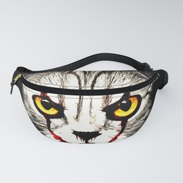 cat clown kittywise vector art Fanny Pack