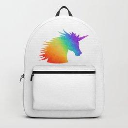 Rainbow Unicorn Silhouette Backpack