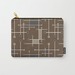 Intersecting Lines in Brown, Tan and Gray Carry-All Pouch