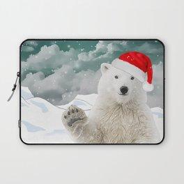 Santa Polar Bear Laptop Sleeve