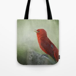 Song of the Summer Tanager 3 - Birds Tote Bag
