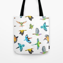 Colourful birds of Singapore Tote Bag