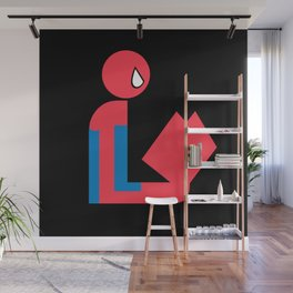 Gentleman Spider Reads Wall Mural