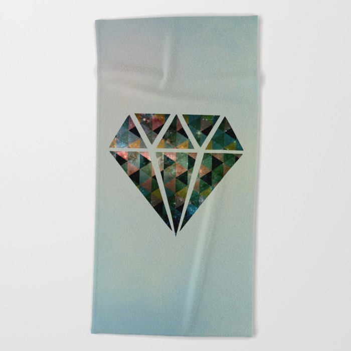 Shine on you crazy diamond Beach Towel