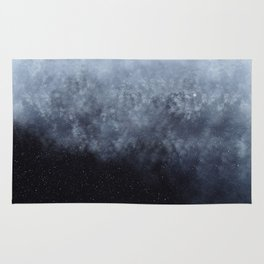 Blue veiled moon Rug
