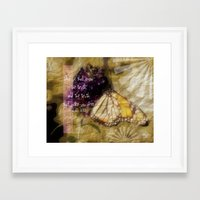 verse Framed Art Prints featuring Truth - Verse by Anita Faye