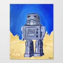 Tin Bot Canvas Print
