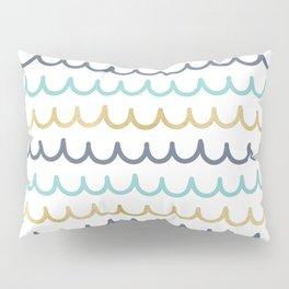 Golden Pastel Waves Pillow Sham