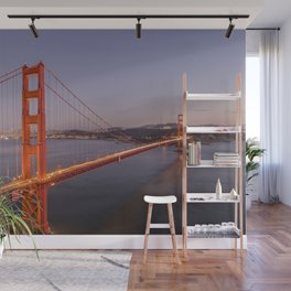 Golden Gate Bridge at Sunset Wall Mural