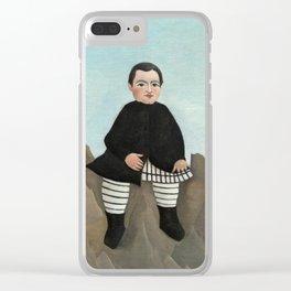 Henri Rousseau, Boy on the Rocks, 1895 Clear iPhone Case