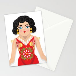 Mexican Paper Doll Stationery Cards
