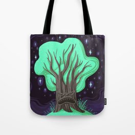 Monster Tree Exploding Sparkle Muffin Tote Bag