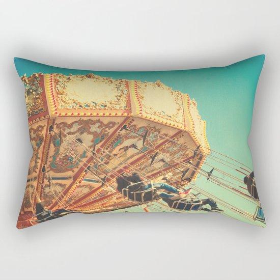 Vintage Chain Swing Ride on Blue Sky  Rectangular Pillow