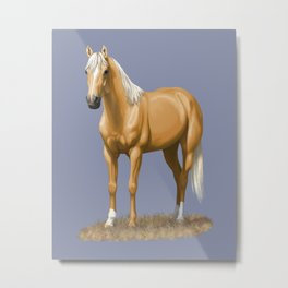 Beautiful Palomino Quarter Horse Metal Print