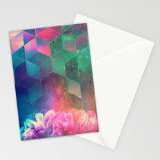 SPACE FLOWERS - for iphone Stationery Cards