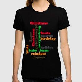 Christmas wordcloud  T-shirt