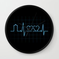 Two Heartbeats Wall Clock