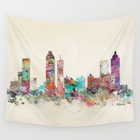 georgia Wall Tapestries featuring atlanta georgia skyline by bri.buckley