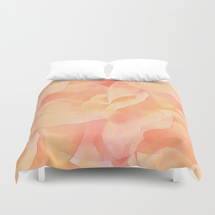 Nothing But Peach Duvet Cover