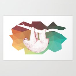 A SLOTH Hang Out Art Print