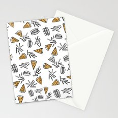 Burgers Pizza And Fries  Stationery Cards