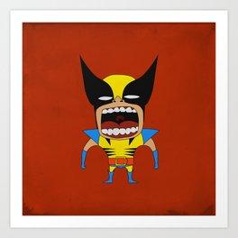 Screaming Wolverine Art Print