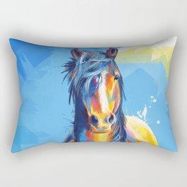 Horse Beauty - colorful animal portrait Rectangular Pillow
