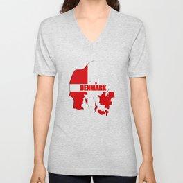 Denmark map Unisex V-Neck
