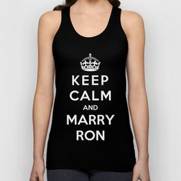 Keep Calm And Marry Ron Unisex Tank Top