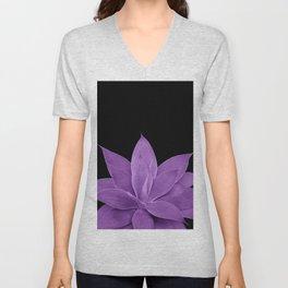 Purple Agave #1 #tropical #decor #art #society6 Unisex V-Neck