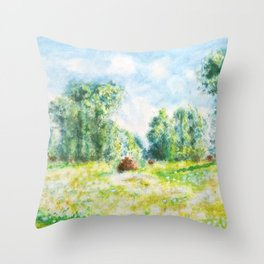 spring in Giverny Monet Claude Throw Pillow